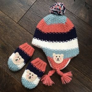 Marks & Spencer Baby Hat & Mittens | 6-18 M | EUC